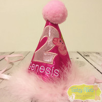 Peppa Pig Princess Inspired Birthday Party Hat