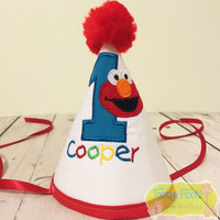 Baby Elmo Inspired Birthday Party Hat