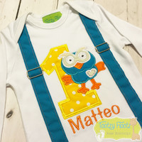 Giggle & Hoot Inspired - Hoot (With Faux Sewn In Suspenders)