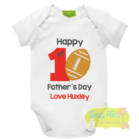 First Fathers Day - Football Design