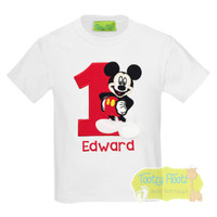Mickey Mouse (Full Body) Inspired Birthday (Red Number)