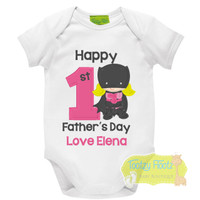 First Fathers Day - Batgirl Design (Pink)