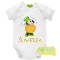 Halloween - Minnie Inspired with a pumpkin dress