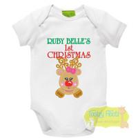 1st Christmas - Girly Reindeer