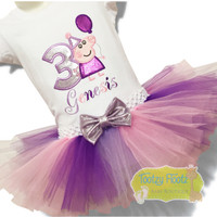 Peppa Pig with holding Balloon Inspired Birthday Set