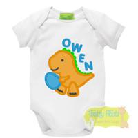 Easter - Baby dino holding easter egg