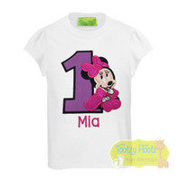 Miss Mouse Inspired Birthday (Purple Number / Black Outline) Birthday