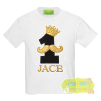 King Crown & Moustache Themed Birthday - Black & Gold