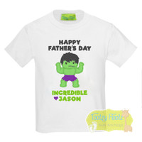 Fathers Day - Green Angry Superhero