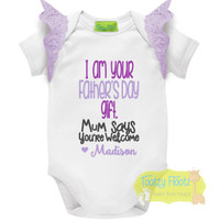 Fathers Day - I am your gift - You're welcome (Purple) Purple Flutters