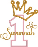 Reserved For Stephanie - Crown With Gold Lyrca Fill - 1 with pale pink - Gold Metallic Thread Stitching