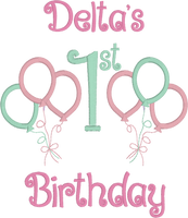 Reserved for Donna -  Tutu Birthday Set Balloon Themed (Pastel Pink & Mint)