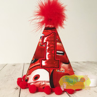 Cars Lightning McQueen Inspired Birthday Party Hat