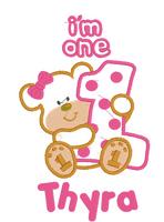 Teddy Bear Holding One Themed Birthday Set