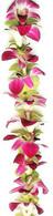 Purple & Green Orchid Lei