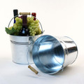 8.5 inch Round Galvanized Pail with Wood Handle