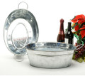 16 inch Oval Galvanized Heavy Guage Tub