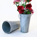 11 inch Tall Metal French Bucket - Vintage Finish