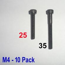M4 x 25 -  Hex Socket Capscrew - 10 pack - (BSB-42510)