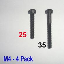 M4 x 25 -  Hex Socket Capscrew - 4 pack - (BSB-42504)