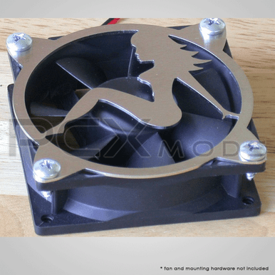 Stainless Steel Laser Cut Retro Trucker Girl Fan Grill quantities are limited