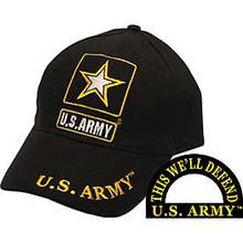 CAP-ARMY LOGO,U.S.ARMY (BRASS BUCKLE)