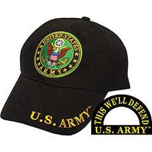 CAP-ARMY LOGO,RND (BRASS BUCKLE)