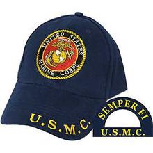 CAP-USMC LOGO,RND (BRASS BUCKLE)