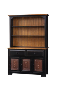 Pine 3-Door Hutch w/ Tin Doors