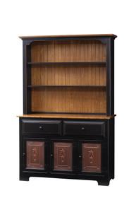 Pine 3-Door Hutch w/ Tin Doors