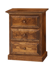 Pine 3-Drawer Nightstand