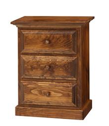Pine 3-Drawer Nightstand