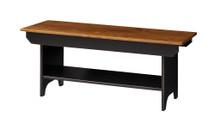 Pine 3-Foot Bench w/ Shelf