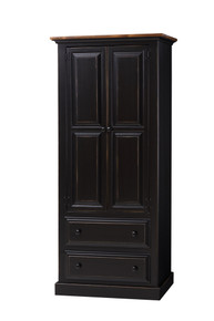 Pine Armoire with Drawers