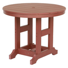 "38"" Round Poly Table"