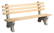WV 905 Wood Park Bench - 6 foot