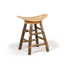 CH 462 Hickory Swivel Saddle Barstool