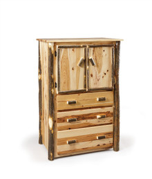 CH 633 Hickory 3-Drawer Armoire