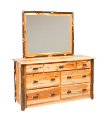 CH 635 Hickory 7-Drawer Dresser w/optional mirror