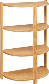 CO 2040 Small 4-Tier Half Round Stand