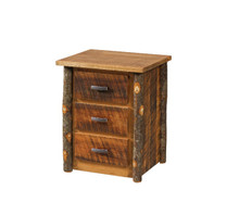CH 624 Rustic Cherry 3-Drawer Nightstand