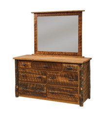 CH 635 Rustic Cherry 7-Drawer Dresser w/optional mirror