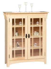 GO-3307 Small Mission Double Door Bookcase