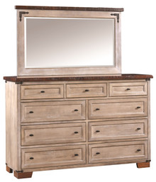CWF6011R Farmhouse Heritage Tall Dresser w/Mirror