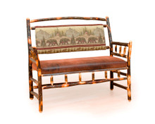 BRG Rustic Deacon Bench