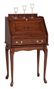 GO-3008 Secretary Desk w/ Queen Ann Legs