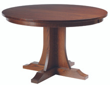 Hamilton Mission Single Pedestal Table