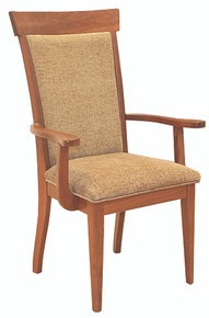 Upholstered Shaker Arm Chair