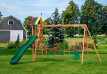 PM #005 Wooden Swing Set