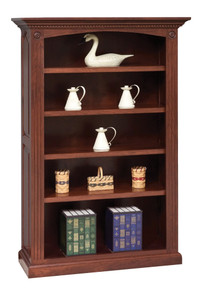 GO-3098 4-Shelf Premium Raised Panel Bookcase